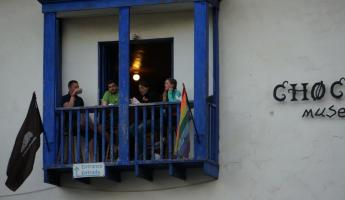 One of the many hostels in Peru.  College kids everywhere