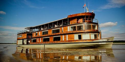 The Delfin II cruises the Upper Amazon in style