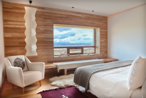 A spacious suite with stunning views of Torres del Paine National Park