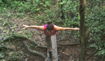 Jungle yoga!