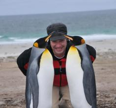 Mingling with the locals in the Falkland Islands