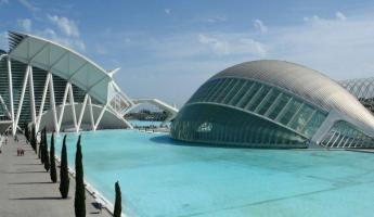 Futuristic structures in Valencia, Spain