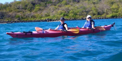 Sea kayaking expedition in the Galapagos