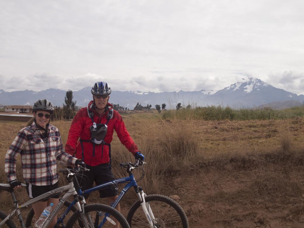 Biking through Peru