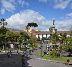 Square in front of the President's Palace, Quito