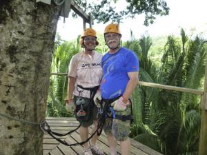 Ziplining through the rainforest canopy!