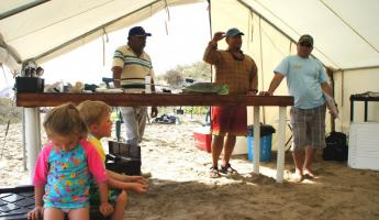 Learning about sea turtle research in Magdalena Bay, Baja
