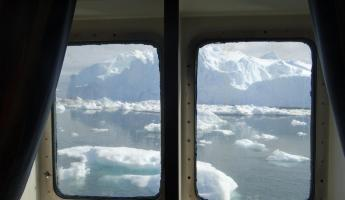 Iceberg view out of our cabin window