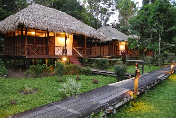 Relax in your private bungalow at Sacha Lodge