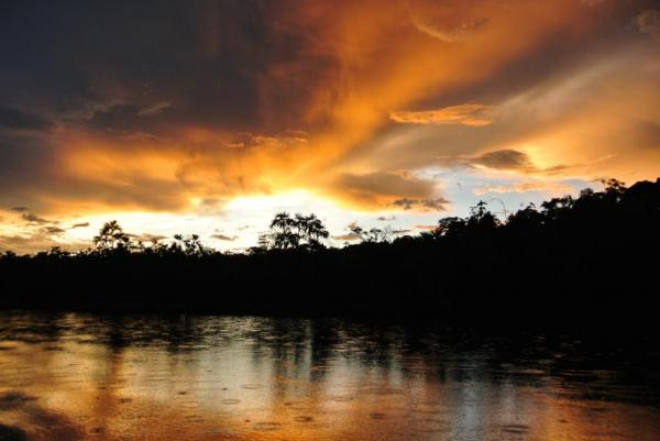 An Amazonian sunset at Sacha Lodge