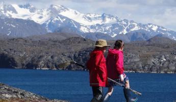 Alex and Hailey on Greenland expedition hike