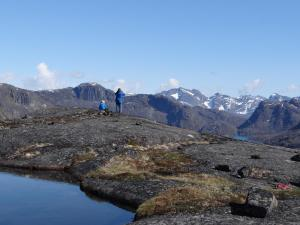 Colin and Eugene Hiking in Greenland