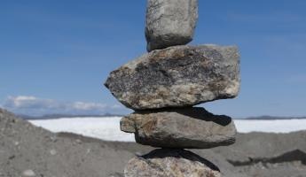Inukshuk at ice cap