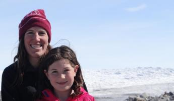 Hailey and Mary at Greenland Ice Cap