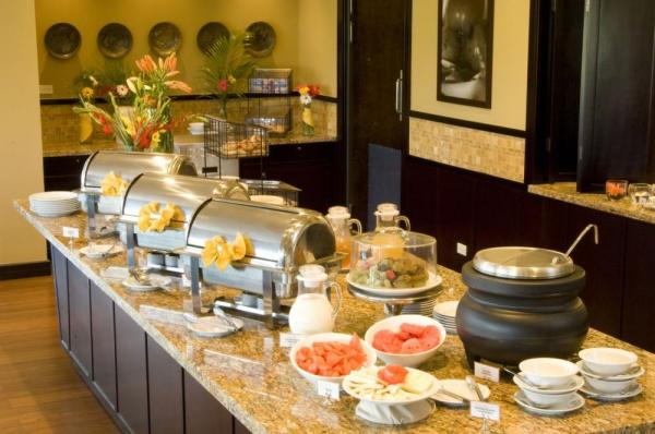 Breakfast is served buffet style at Hilton Garden Inn