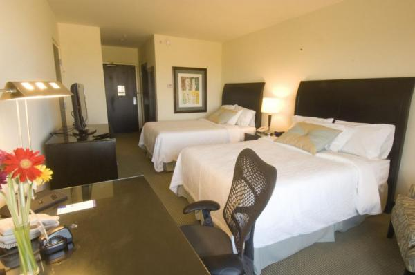 A comfortable double suite at Hilton Garden Inn