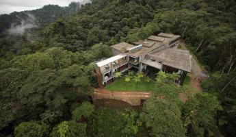 Secluded Mashpi Lodge from above