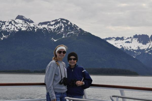 Aspen and I on deck the Baranof Dream