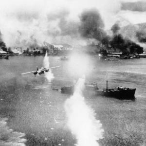 The bombing of Rabaul