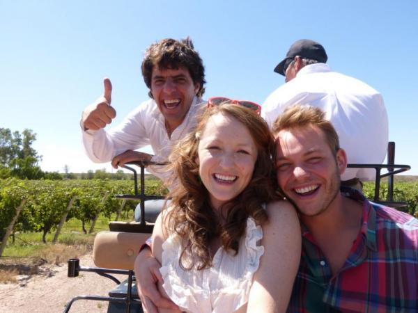 Taking a ride through the vineyards
