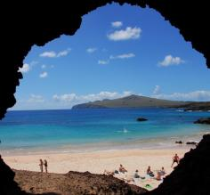 Relax along the sunny beaches of Easter Island's coast