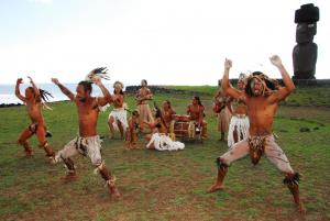 Easter Island's native Rapa Nui perform a cermonial dance