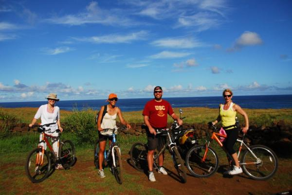 See Easter Island by bicycle