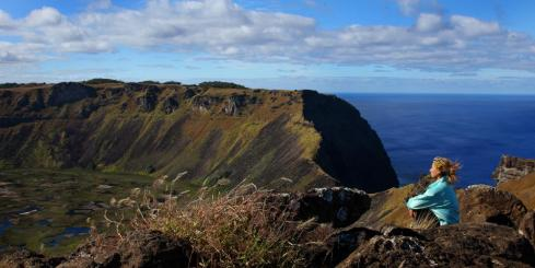 Revel in the beauty of Volcan Orongo on your Easter Island tour