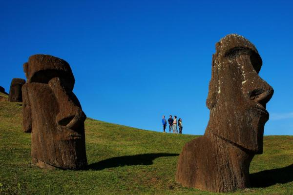 Experience the mysterious Moai on your tour of Easter Island