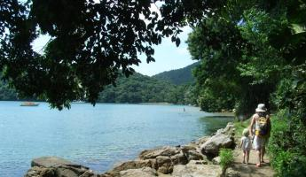 Walk coastal trails around the island of Ilha Grande