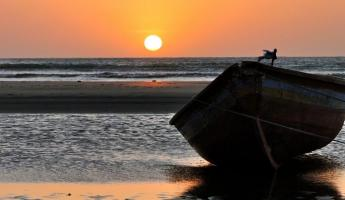 Jericoacoara boat at sunset