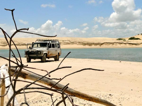 Driving the sands at Jericoacoara