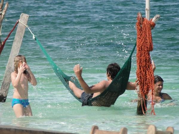 Relax in the warm waters of Jericoacoara in the comfort of your hammock