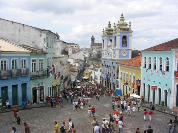 Stroll through the bustling streets of Pelourinho