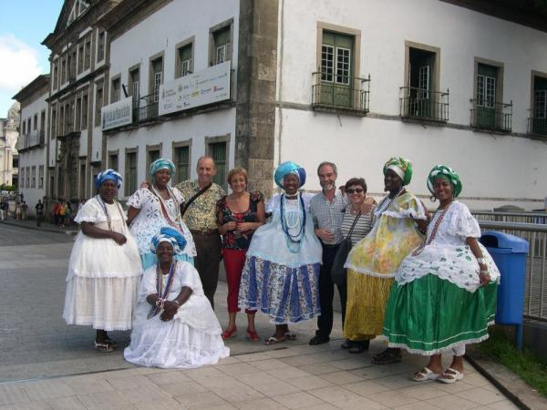 Authentic Brazilian dress in Salvador de Bahia