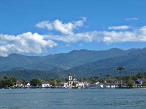 Historic Paraty, nestled between the mountains and the sea