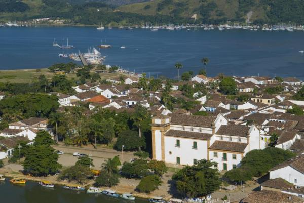 A bird's eye view of beautiful Paraty