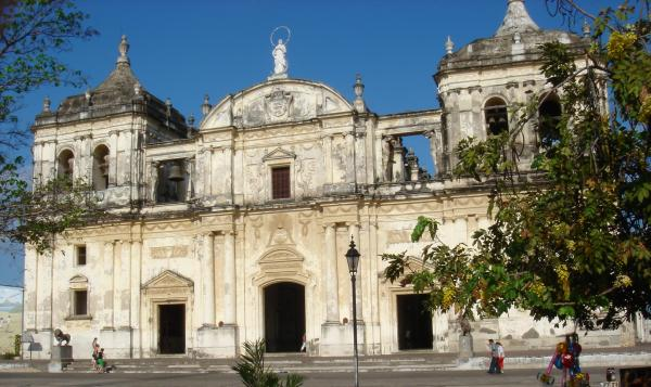 A well-preserved facade in Colonial Leon