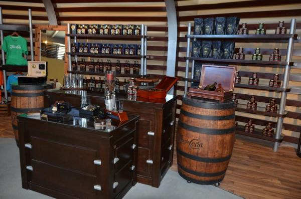 Rum showroom at Flor de Cana Distillery