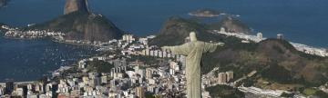 View of Rio from Christ the Redeemer statue during rio city tour