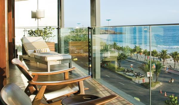 Enjoy the sights and sounds of Ipanema from your balcony at Experience exceptional cuisine at Hotel Fasano Al Mare