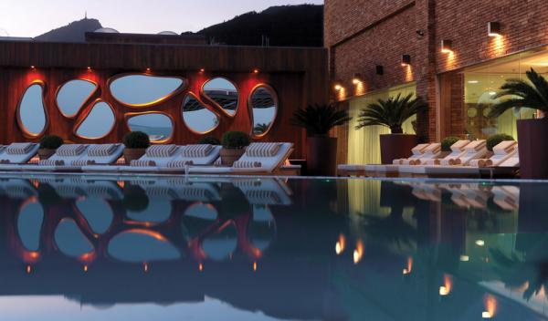 The luxurious swimming pool at Experience exceptional cuisine at Hotel Fasano Al Mare