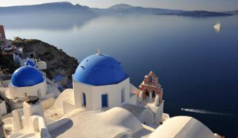 Traditional architecture in Greece.