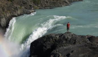 Salto Grande waterfall in Torres del Paine