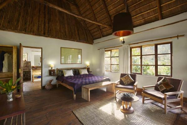 Spacious and comfortable rooms at the Bwindi Lodge