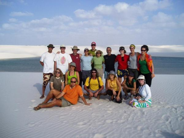 A happy group in Lencois Maranhenses National Park