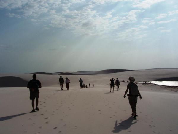 Silhouetted in Lencois Maranhenses National Park