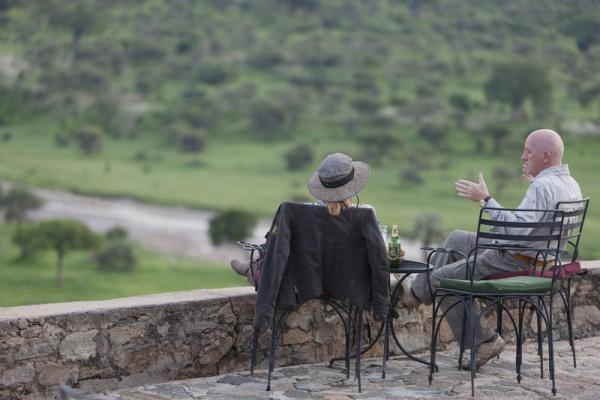 Enjoy the view from the patio at Tarangire Lodge