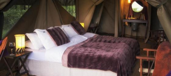 Comfortable rooms at the Ngorongoro Tented Camp