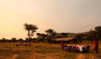 Enjoy a meal out on the plains.